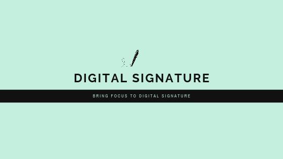 Turn your signature into Digital Signature